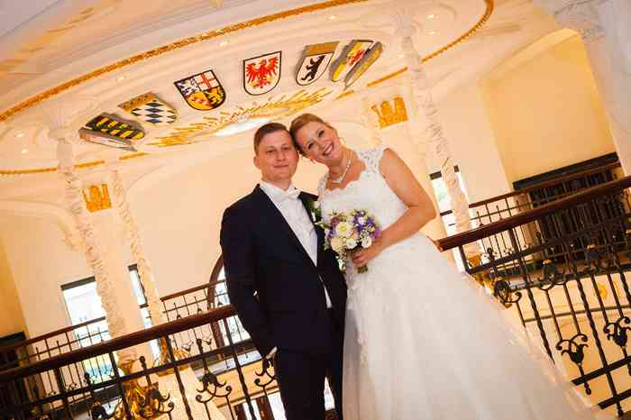 Hochzeitsshooting im Staffelgeschoss