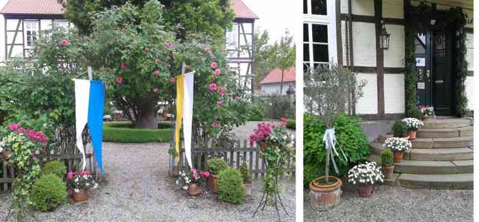 Romantischer Park des Gutshofs der Familie Jeinsen bei Springe.