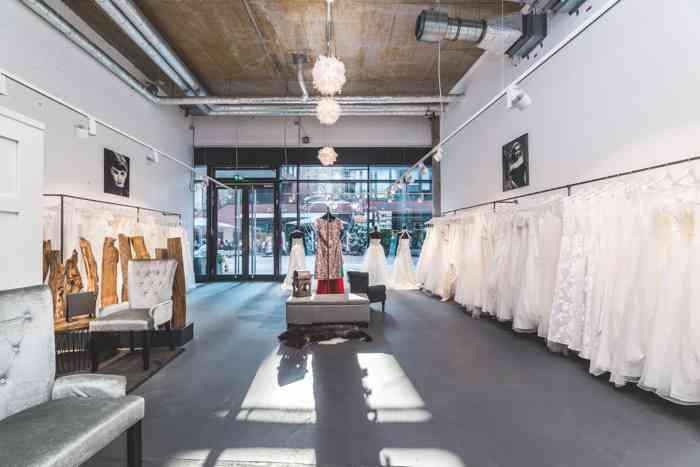 Showroom Brautstudio Glücksfang Hsmburg HafenCity