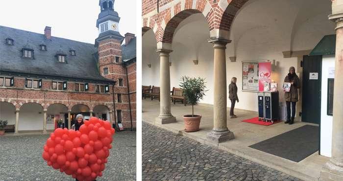 Hochzeitsmesse im Reinbeker Schloss. Hier erhalten Brautpaare kostenlos die aktuellen KUCHENBUCHS HOCHZEITen Magazine.