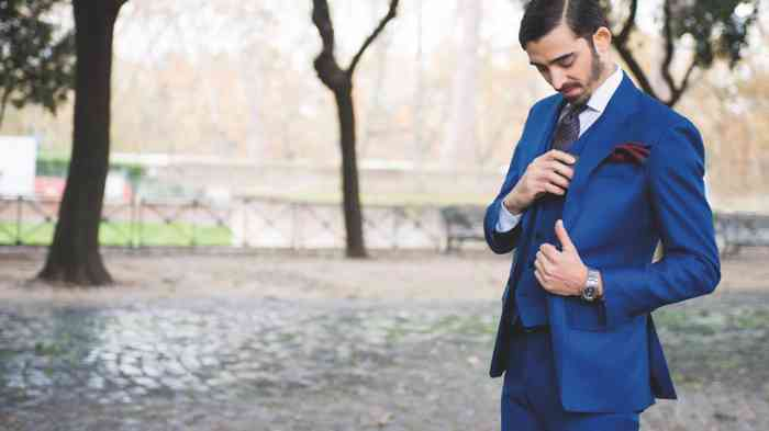 Bräutigam Anzug Weste Dreiteiler Königsblau