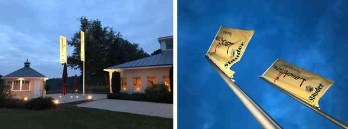 Während der Mond über dem Außenmühlenteich aufging, wurde im Leuchtturm fröhlich weiter gefeiert.