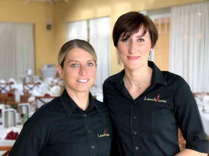 Das sympathische Team vom Restaurant Leuchtturm.