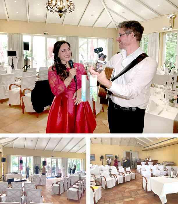 Cemile und ihr Gitarrist performten die Wunsch-Lieder des Brautpaares.