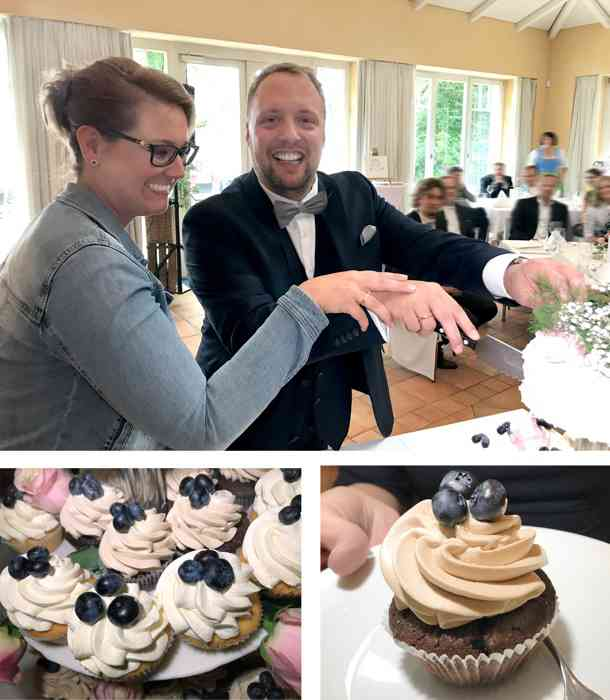 Torte und Cupcakes - reichlich Süßes für die Gäste.