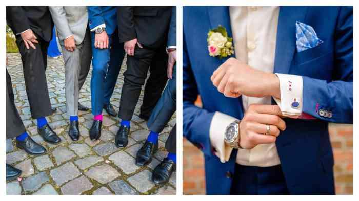 Blau ist IN - sogar bei den Socken.
