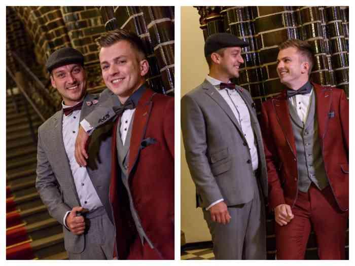 Gleichgeschlechtliche Paare entdecken die Möglichkeiten der Hochzeitsmode.