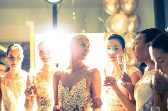 Nach getaner Arbeit konnten die Models etwas feiern.