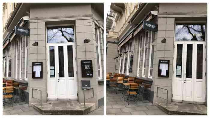 Gorilla Grill ist ein unkonventionelles, stylishes Lokal im Eppendorfer Weg 58 mit hohen Fenstern, surrealistischer Kunst und mediterraner Bistrokost. Besonderheit: Hausgemachte Pasta.