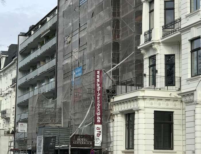 Das Hotel Alsterblick am Schwanenwik 30 wird derzeit umfassend modernisiert.
