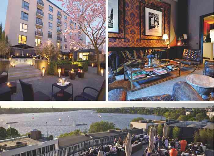 Britisch-hanseatisch: The George Hotel an der Alster.