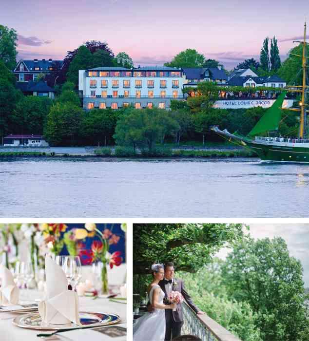 Das Louis C. Jacob ist die klassische Hochzeitslocation Hamburgs.