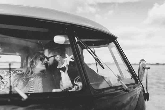 Individualität und Freiheit miteinander verbinden. Im VW-Bus zur Hochzeit, zur Kirche oder an den Stand.