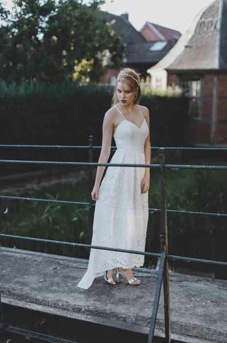 Brautkleid Boho Stil Spitze