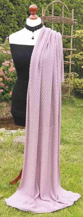 Schaltuch mit Rautenmuster Merinotuch rosa