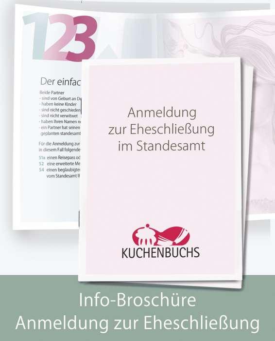 Wir haben alle Informationen, die Sie für die Anmeldung zur Eheschließung benötigen in unserer Broschüre übersichtlich zusammengefasst.