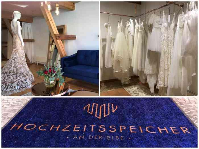 Im Hochzeitsspeicher an der Elbe findet die Braut und der Bräutigam moderne Brautmode und Herrenanzüge in stilvoller Atmosphäre.