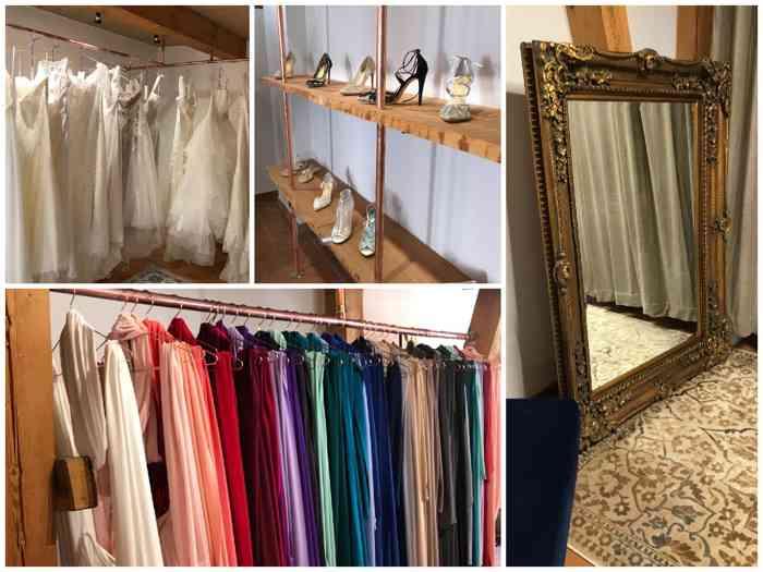 Brautmode, Abendmode, Schuhe, Accessoires - die Auswahl ist groß.