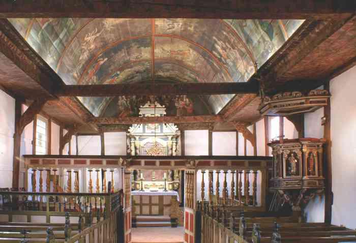 Innenraum der Itzehoer St. Jürgen Kapelle
