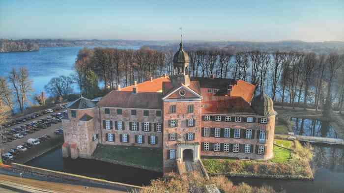 Das Schloss Eutin aus der Vogelperspektive