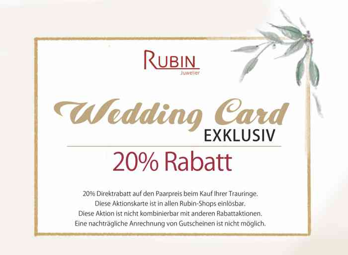 Wedding Card von Juwelier Rubin
