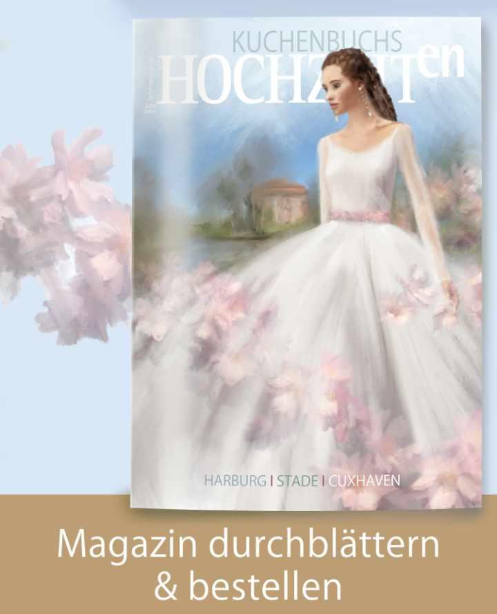 Titel Magazin Kuchenbuchs Hochzeiten in Harburg, Stade und Cuxhaven