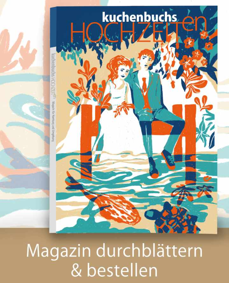 Titel der aktuellen KUCHENBUCHS HOCHZEITen in Schleswig-Holstein